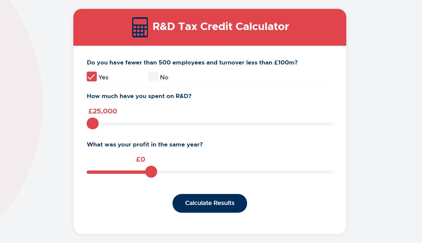R&D tax relief calculator