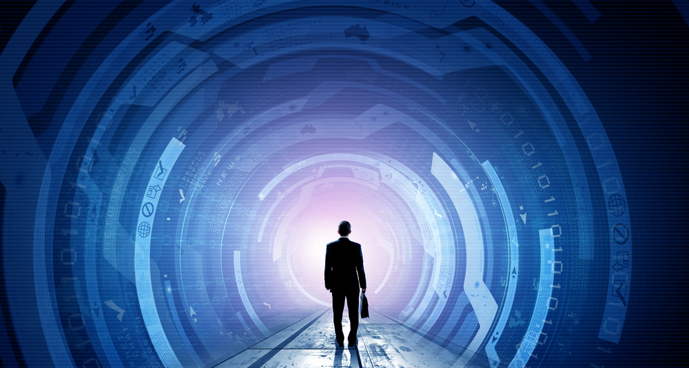 Business man walking into a tunnel symbolising Strategies to help businesses navigating COVID-19