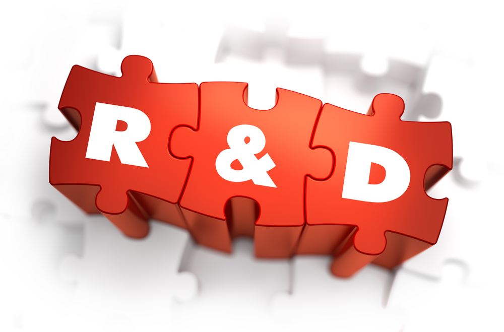 Research and Development - White Word on Red Puzzles on White Background. 3D Render..jpeg (1000×659)